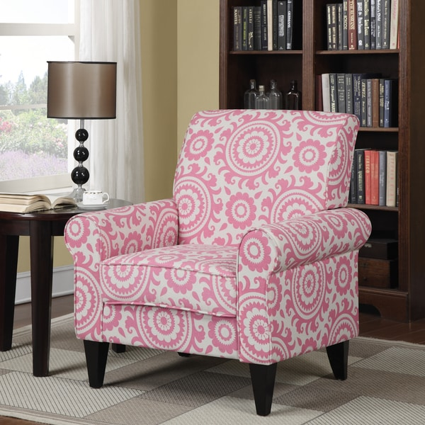 Shop Handy Living Dana Magenta Medallion Arm Chair - Free Shipping ...