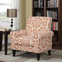Clay Alder Home Alvord Dana Orange Medallion Arm Chair