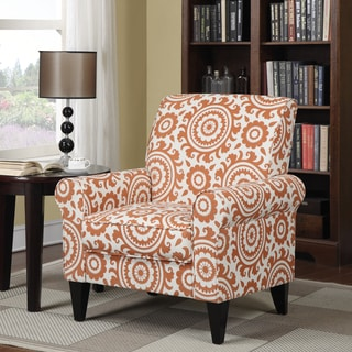 Handy Living Dana Orange Medallion Arm Chair