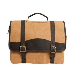 Canyon Outback Elk Valley Canvas and Leather 15-inch Laptop Briefcase
