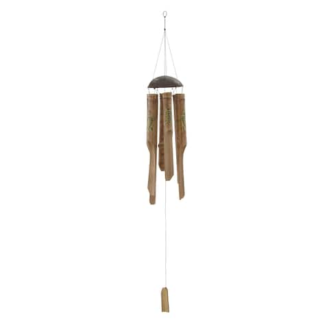 Crafted Bamboo Windchime 5 inches wide x 43 inches high