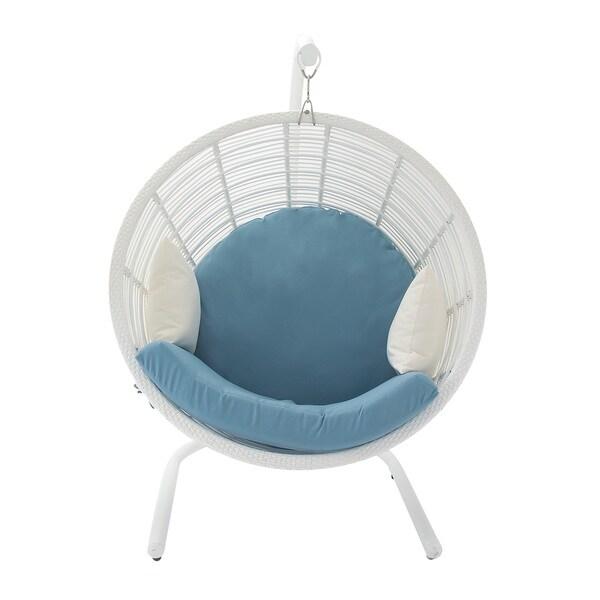 Shop Aluminum Pe Rattan Pod Chair 48 Inches Wide X 70