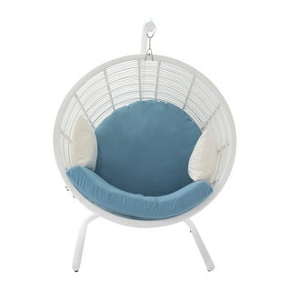 Aluminum PE Rattan Pod Chair 48 inches wide x 70 inches high