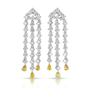 Collette Z Sterling Silver Cubic Zirconia Dangling Earrings With Stones