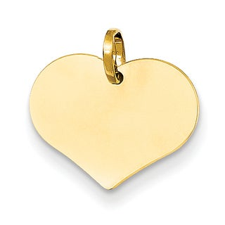 Versil 14k Yellow Gold Timeless Heart Charm