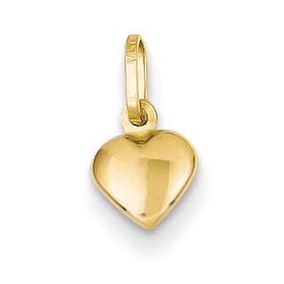 Versil 14 Karat Yellow Gold Small Hollow Heart Charm