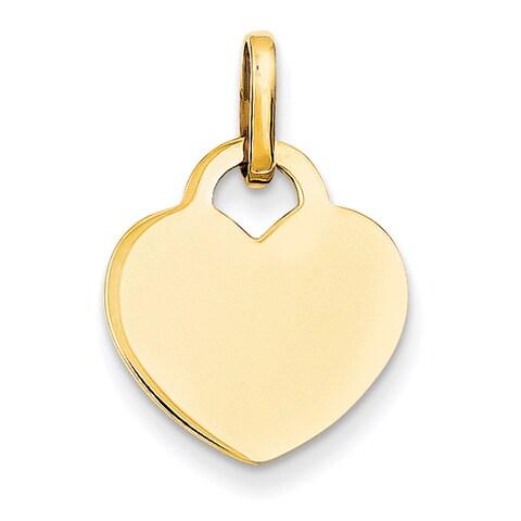 Versil 14 Karat Yellow Gold Polished Heart Charm