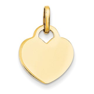 Versil 14 Karat Yellow Gold Polished Heart Charm