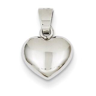 Versil 14k White Gold Heart Pendant