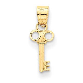 Versil 14k Yellow Gold Key Charm