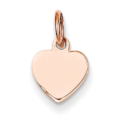 Versil 14 Karat Rose Gold Heart Disc Charm