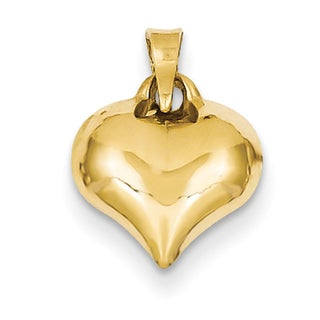 Versil 14k Yellow Gold Classic Puffed Heart Charm