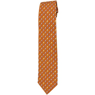 Davidoff 100-percent Twill Silk Orange Neck Tie