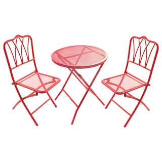 Jordan Manufacturing 3-piece Bistro Set (Red)