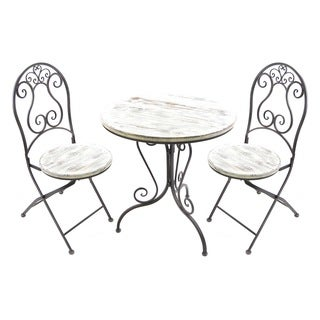 Jordan Manufacturing 3-piece Distressed Bistro Set