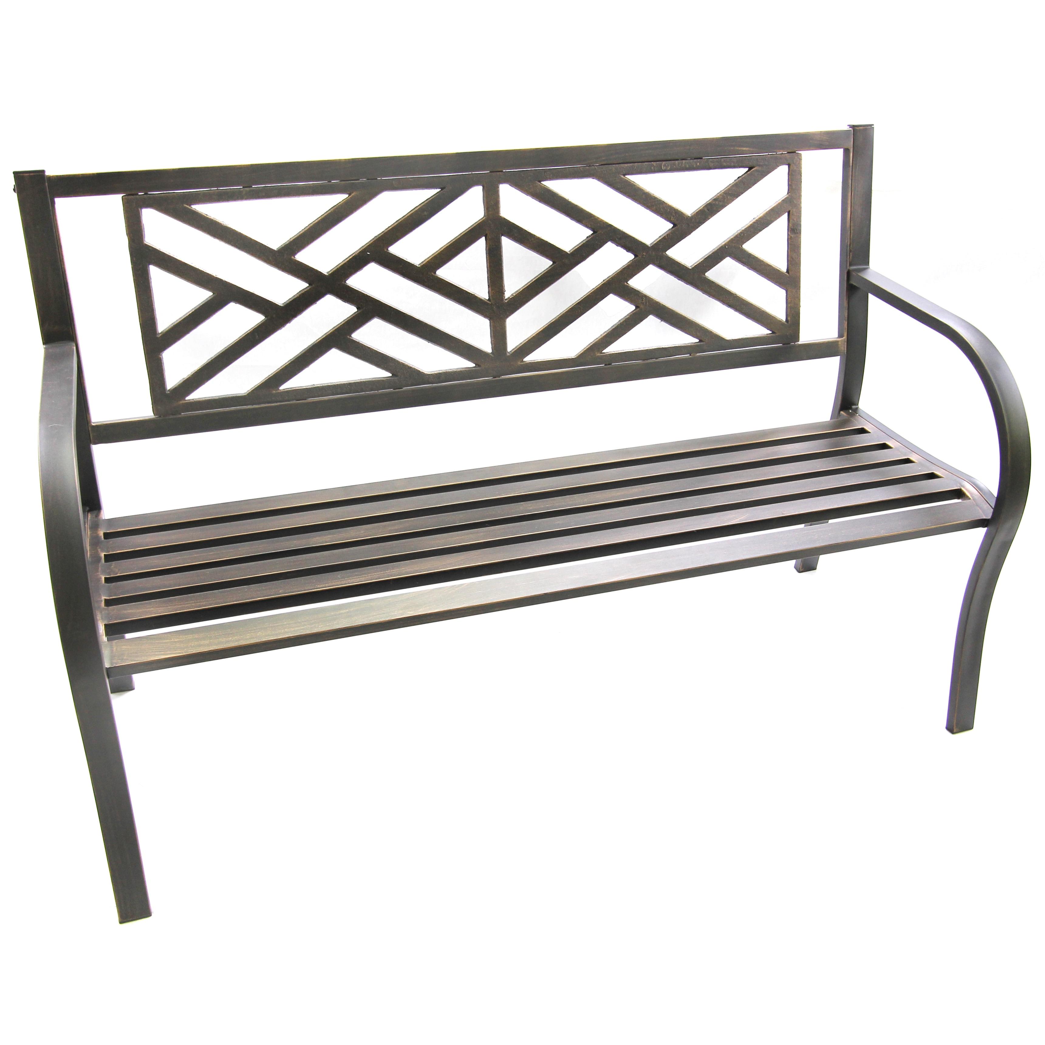 Jordan Maze Bench (Black Maze Bench), Patio Furniture (St...