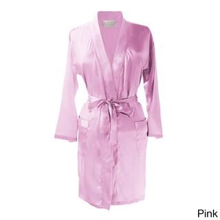 Layla Luxury Satin Kimono Robe (Option: Pink)