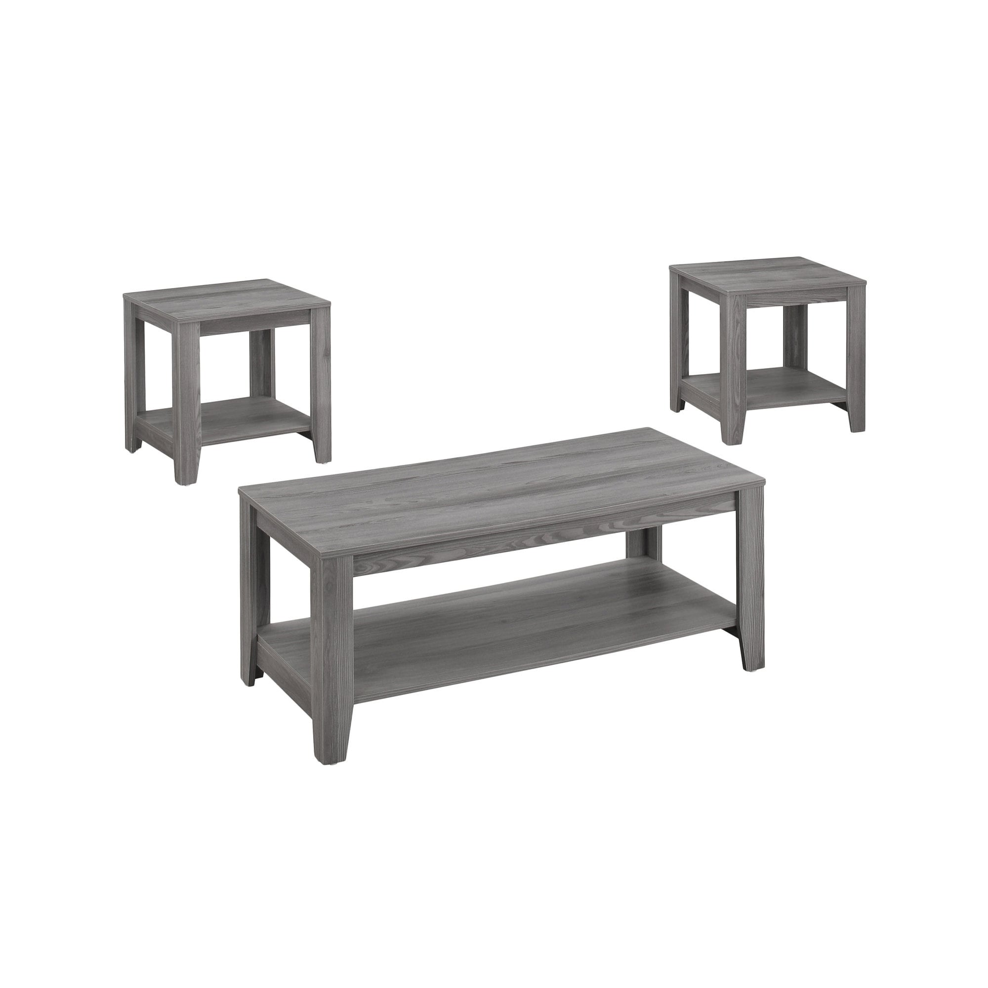 Monarch Table Set-3-Piece Set/Grey (Grey)