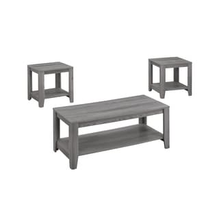 Table Set-3-Piece Set/Grey  sc 1 st  Overstock & Table Sets Coffee Console Sofa \u0026 End Tables For Less | Overstock.com