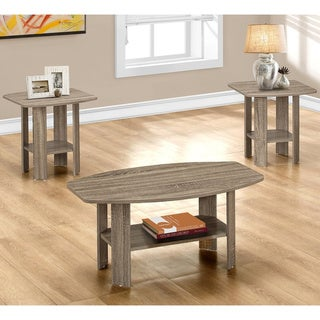 Table Set-3-piece Set/Dark Taupe