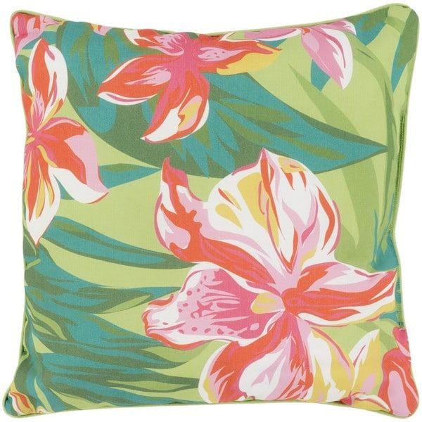 Decorative Alaska 20-inch Polyester Filled Pink Throw Pillow