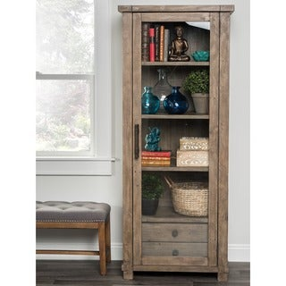 Kasey Natural Reclaimed Wood Curio Cabinet by Kosas Home