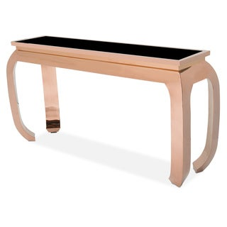 Pietro Rose Gold Console Table by Michael Amni