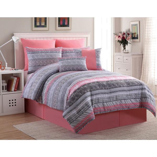 VCNY Declan 8-piece Bed in a Bag Comforter Set