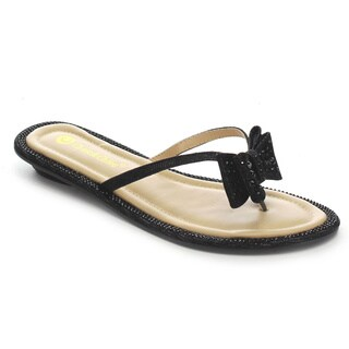 Beston CC83 Women's Glitter Bow Thongs