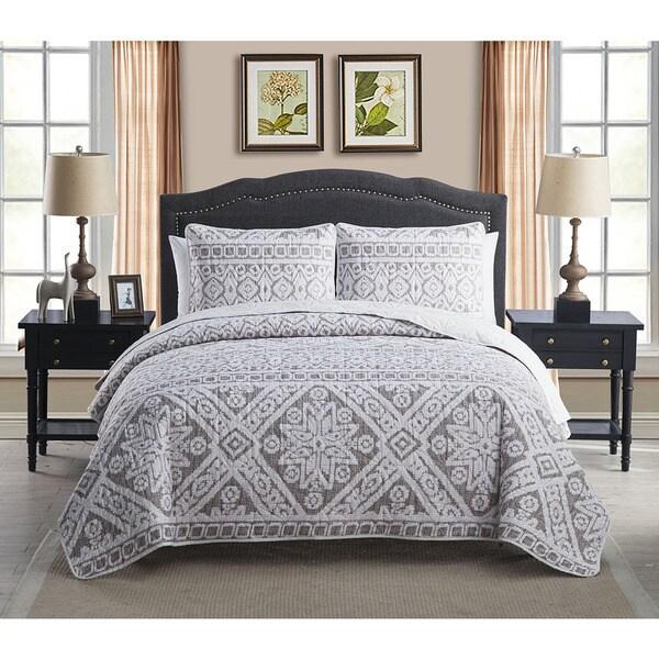 VCNY Fair Isle 3-piece Quilt Set