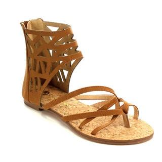 Beston CC73 Women's Gladiator Flat Sandals