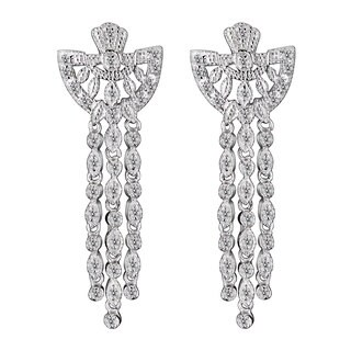Collette Z Sterling Silver Cubic Zirconia Angel Earrings