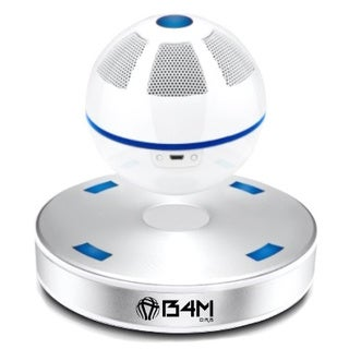 B4M ORB-Ice Silver Portable Wireless Bluetooth/ NFC 4.1 Floating Maglev Speaker