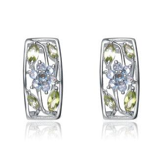 Collette Z Sterling Silver Multicolor Cubic Zirconia Growing Flower Earrings|https://ak1.ostkcdn.com/images/products/11405453/P18370676.jpg?impolicy=medium