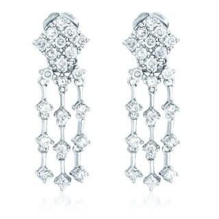 Collette Z Sterling Silver Cubic Zirconia Dream Catcher Earrings
