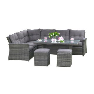 Lima Outdoor Wicker Rattan Dining Set