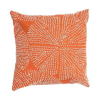 Orange Passion Cotton 18-inch Throw Pillow