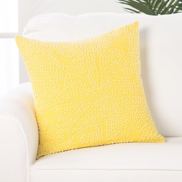Honey Passion Cotton 18-inch Throw Pillow