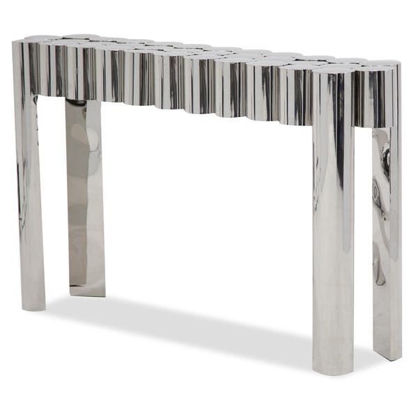 Swell Shop La Tania Silver Console Table By Michael Amini Free Cjindustries Chair Design For Home Cjindustriesco