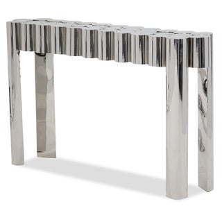 La Tania Silver Console Table by Michael Amini