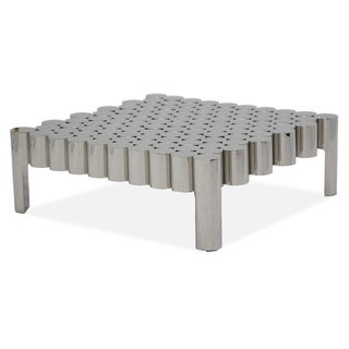 La Tania Silver Rectangular Cocktail Table by Michael Amini