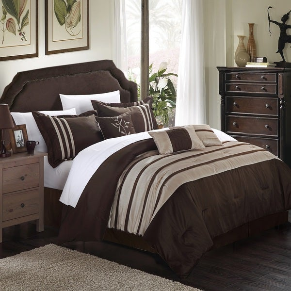 Chic Home Tijuana King Size 11-Piece Pleated Pieced Bed in a Bag Comforter Set