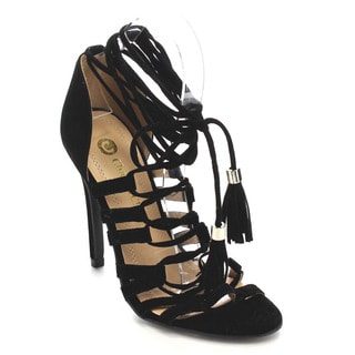 Beston CC69 Women's Fringe Stiletto Sandals