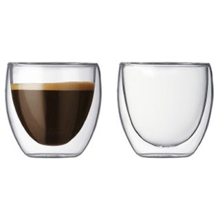 Teaology Coppia Double Wall Borosilicate Glass 4-ounce Tea and Coffee Cup (Set of 2)