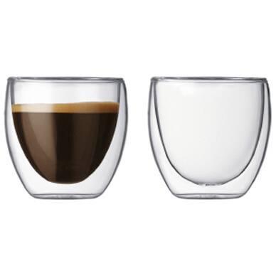 Teaology Coppia Double Wall Borosilicate Glass 8-ounce Tea and Coffee Cup (Set of 2)