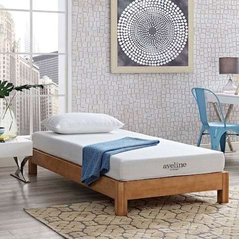 Aveline 6-inch Gel Infused Memory Foam Twin-size Mattress - White