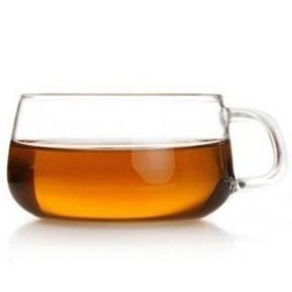 Teaology Farfalle Borosilicate Glass Glass 6.75-ounce Tea and Coffee Cup