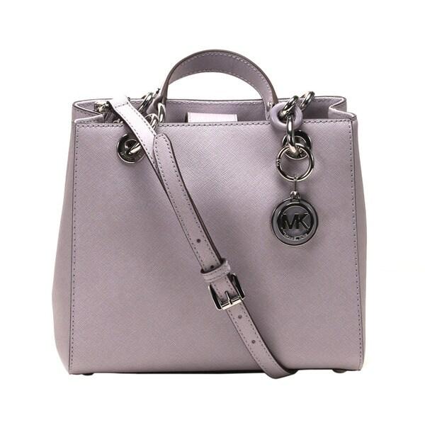 eacb98f5bc6bb6 ... best price michael kors cynthia lilac small north south satchel handbag  08d77 d4cf9
