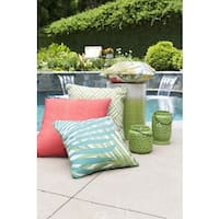 Decorative Admission 20-inch Emerald Green Throw Pillow
