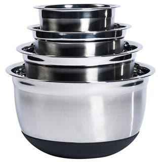 4Pc Stainless Steel Mixing Bowl Set with Silicone Base|https://ak1.ostkcdn.com/images/products/11405628/P18370836.jpg?impolicy=medium
